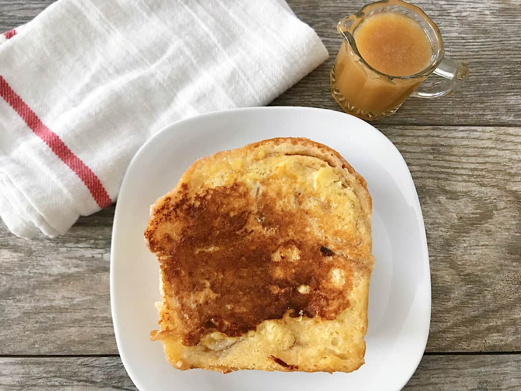 Kneader's French Toast and caramel syrup