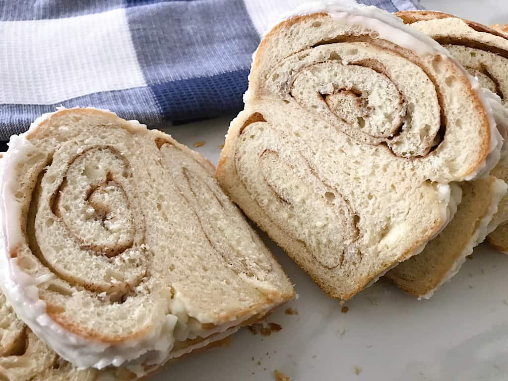 Slices of Cinnamon Swirl Bread