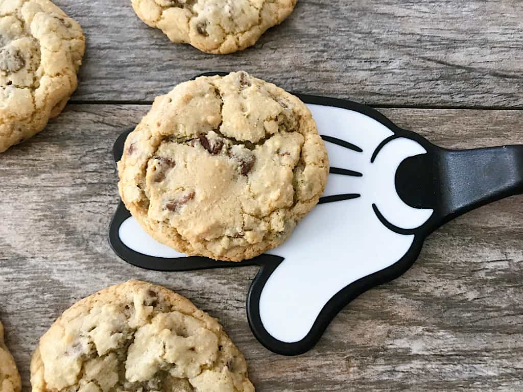 Grand Floridian Chocolate Chip Cookies and a Mickey Mouse spatula