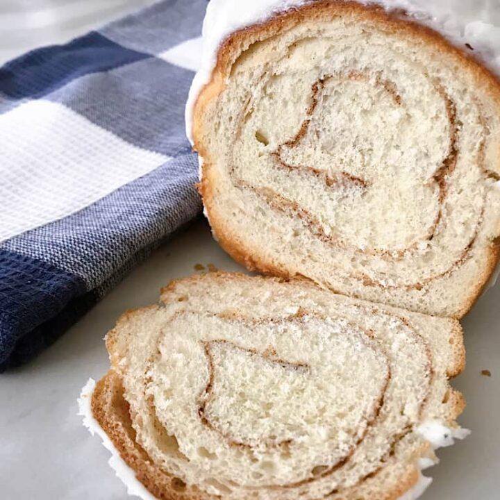 Sliced Chunky Cinnamon Bread with Icing