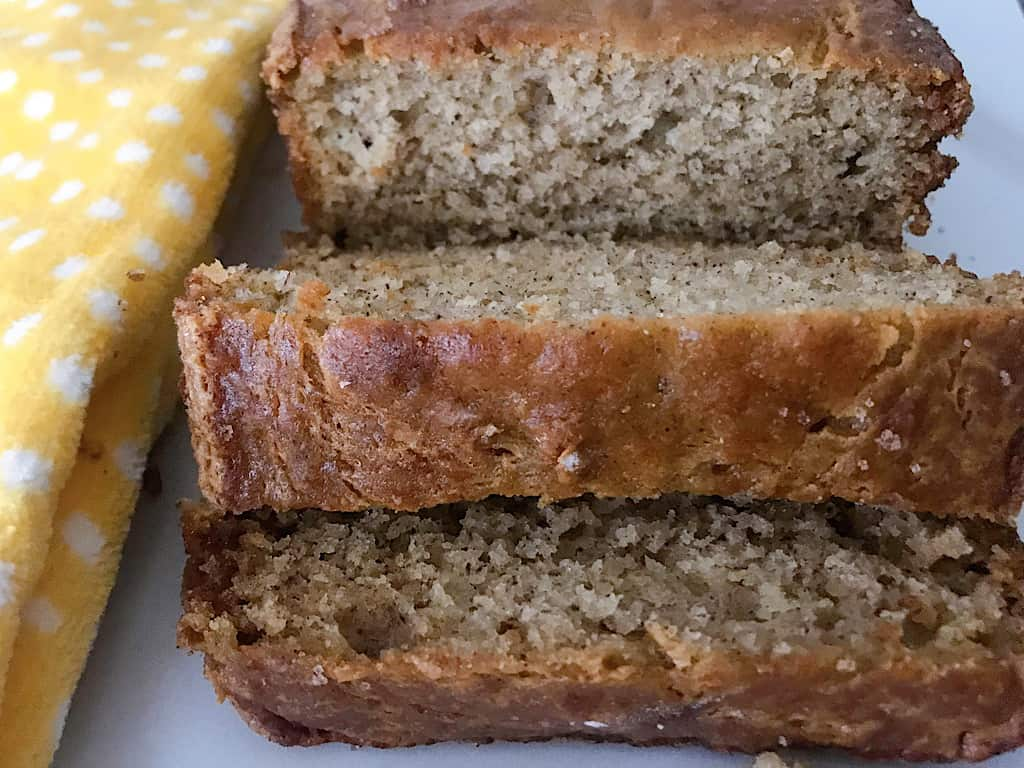 Allow the banana bread loaves to cool in the pan for 15 minutes before transferring to a cooling rack.
