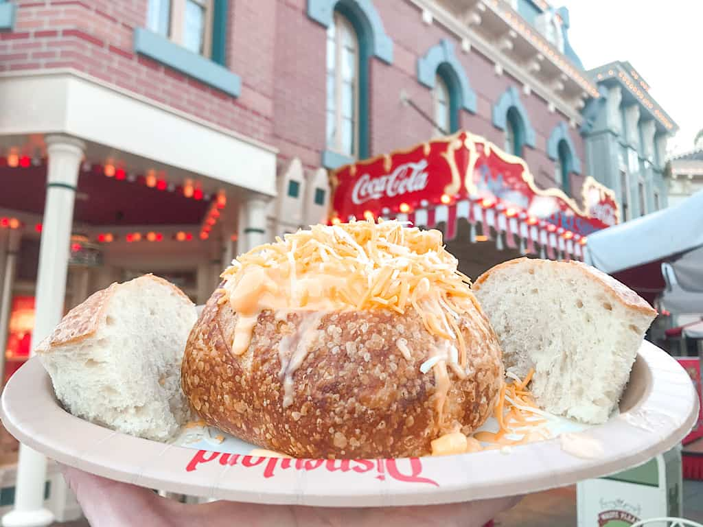 Macaroni and Cheese Sour Dough Bread Bowl Refreshment Corner at Disneyland