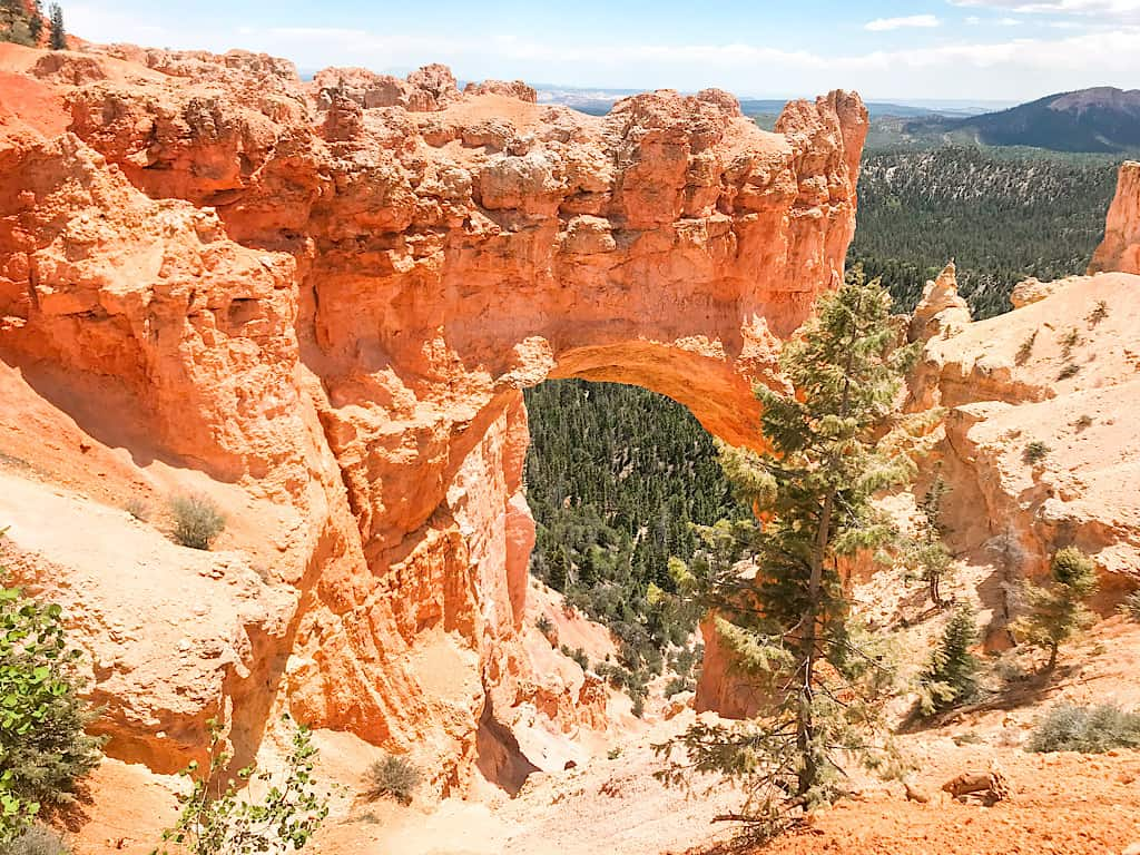 Natural Bridge landmark at Bryce Canyon