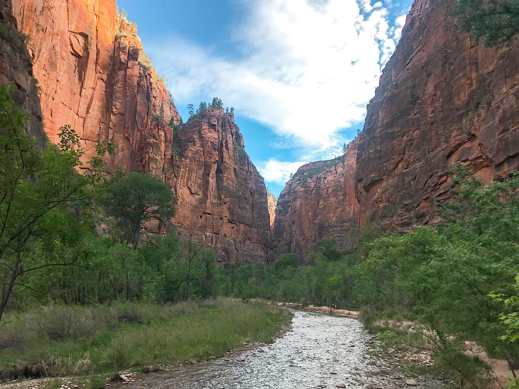 View of Riverwalk Trail at Zion
