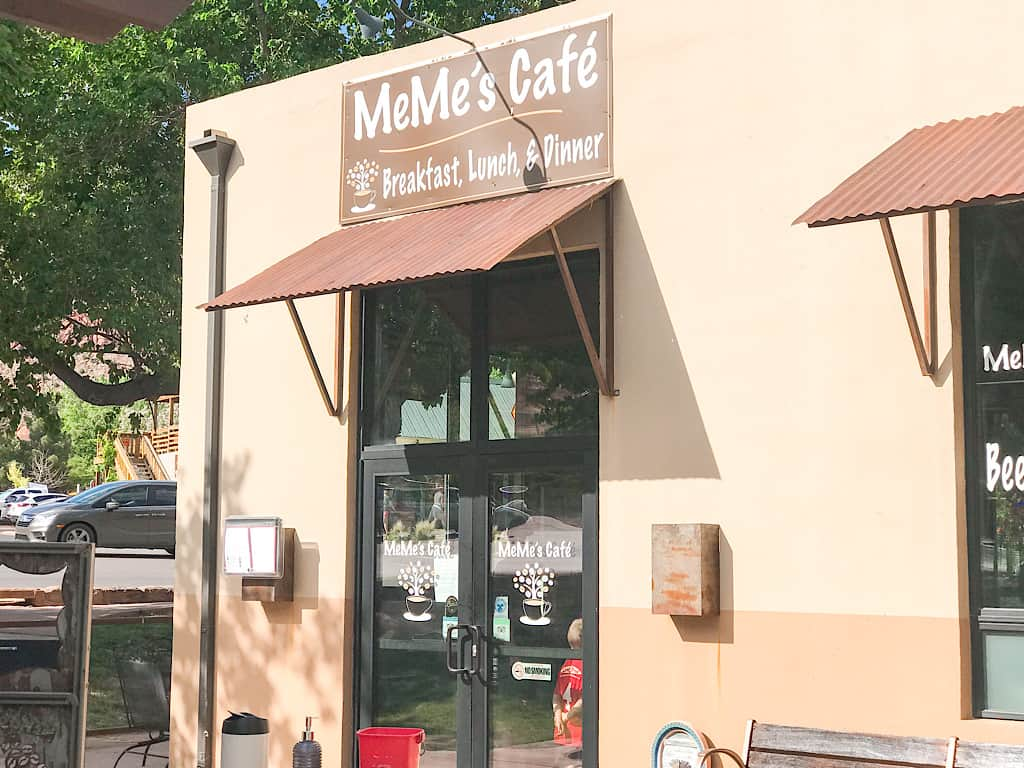 Meme's Cafe in Springdale, Utah near Zion National Park