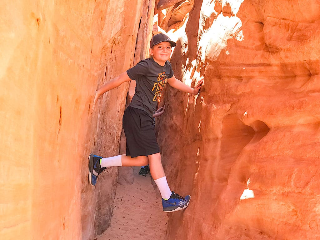 sand Dune Arch at Arches with Kids