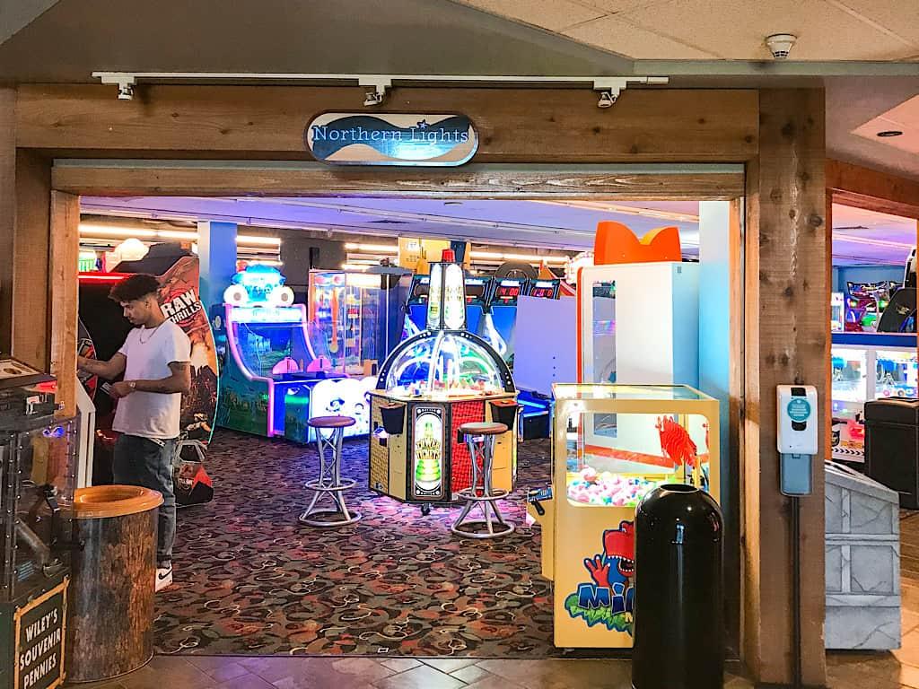 Arcade inside Great Wolf Lodge Washington