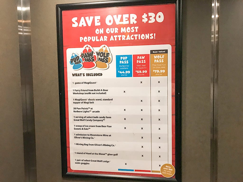 Types of passes at Great Wolf Lodge