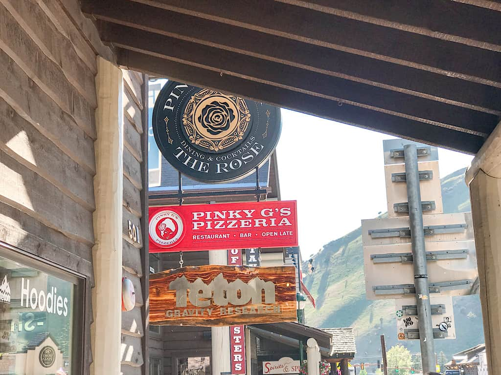 Pinky G's Pizzeria in Jackson Hole, Wyoming