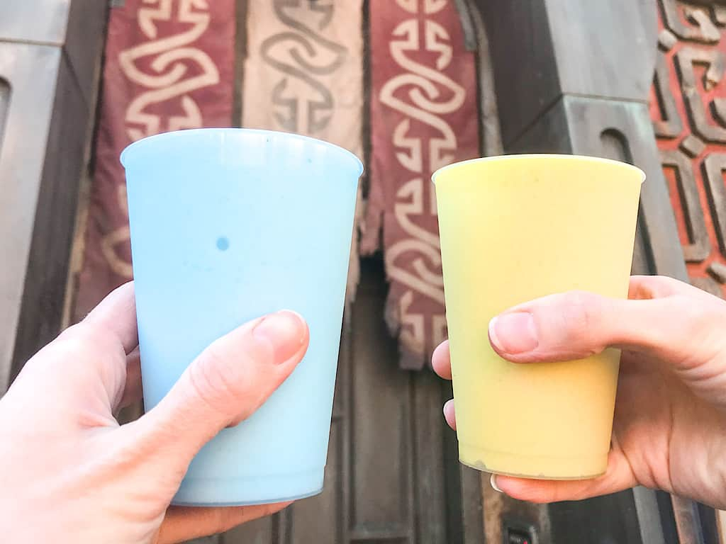 Blue and Green Milk from Star Wars Galaxy's Edge