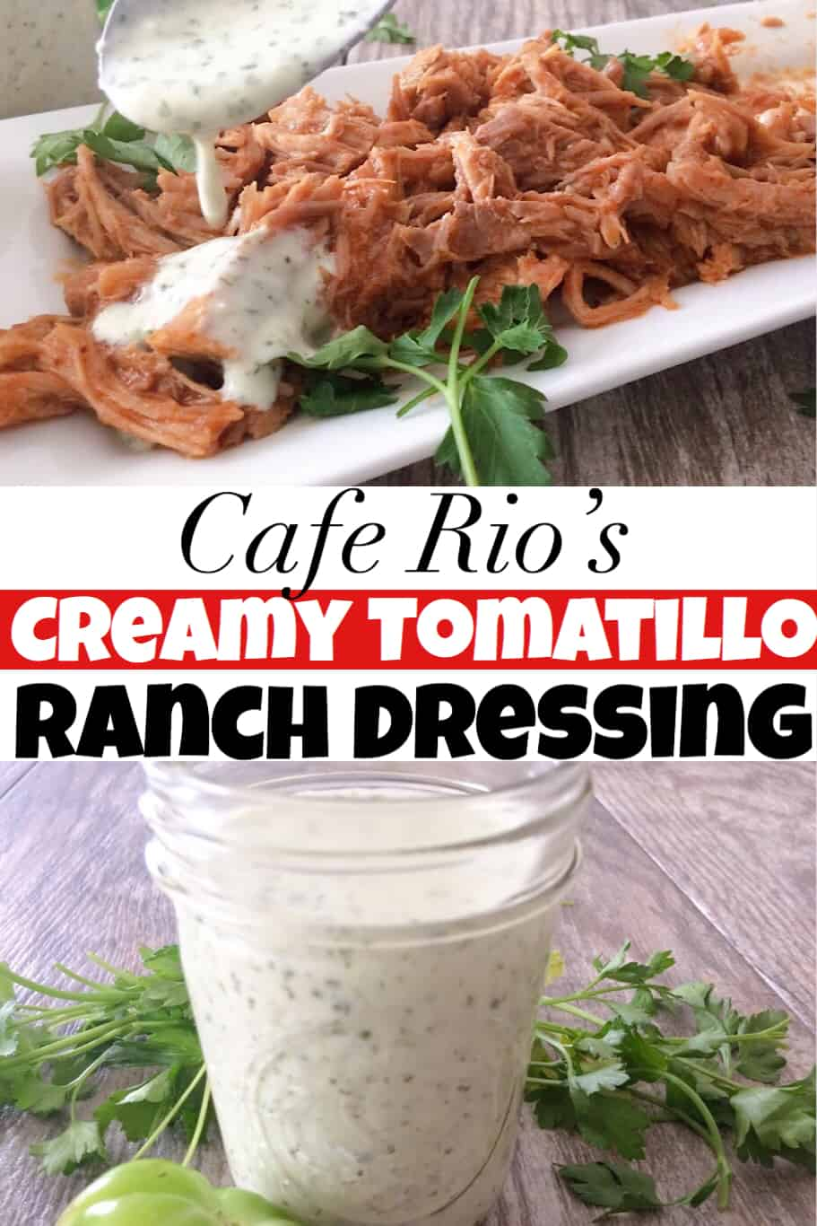 Cafe Rio's Creamy Tomatillo Ranch Dressing