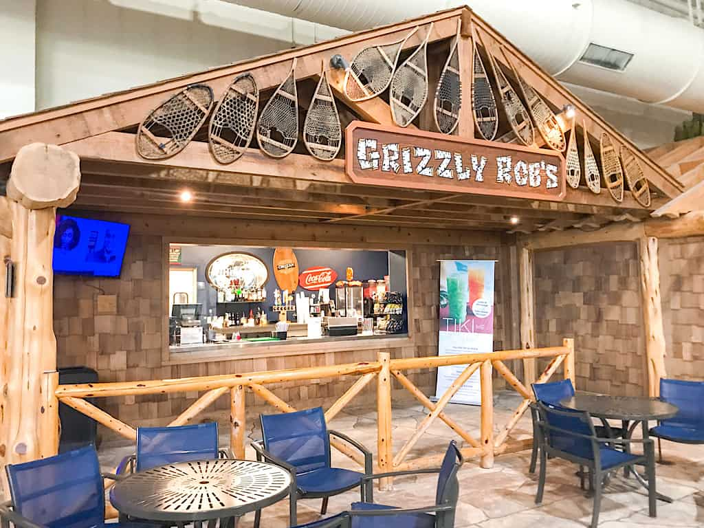 Grizzly Rob's inside Great Wolf Lodge Washington's water park