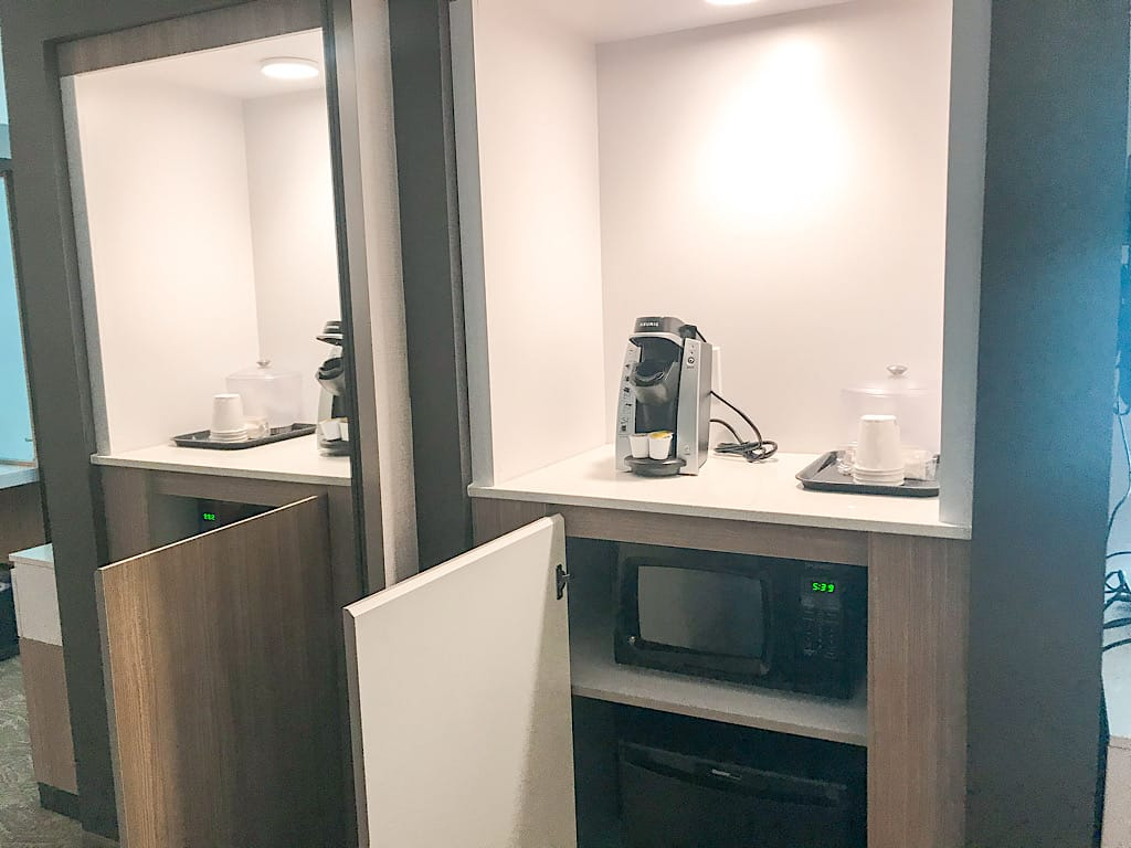 Microwave and mini fridge in Springhill Suites in Jackson Hole, Wyoming
