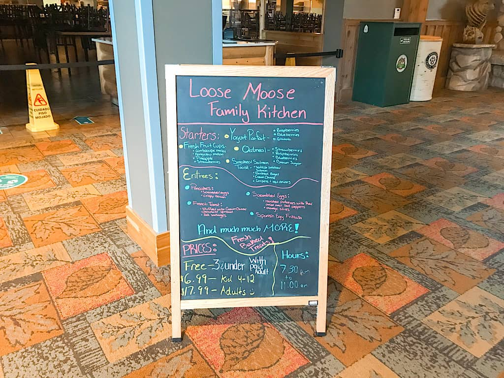 Sign in front of Loose Moose Cottage at Great Wolf Lodge Grand Mound, Washington