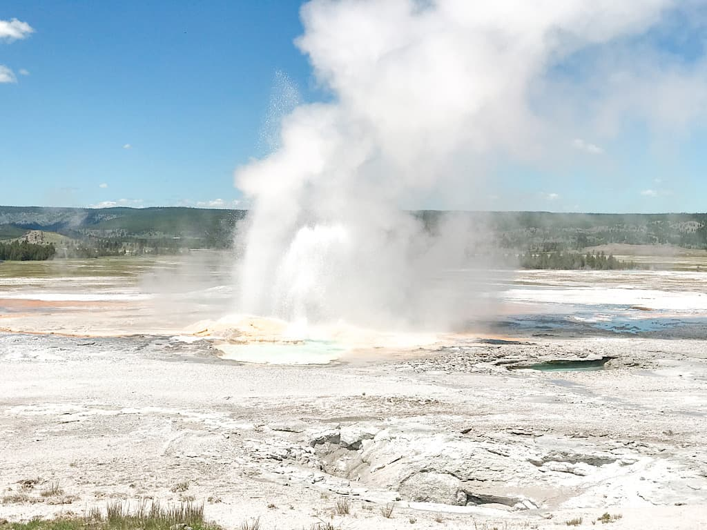 Volcanic Table, Fountain Geyer in Yellowstone National Park