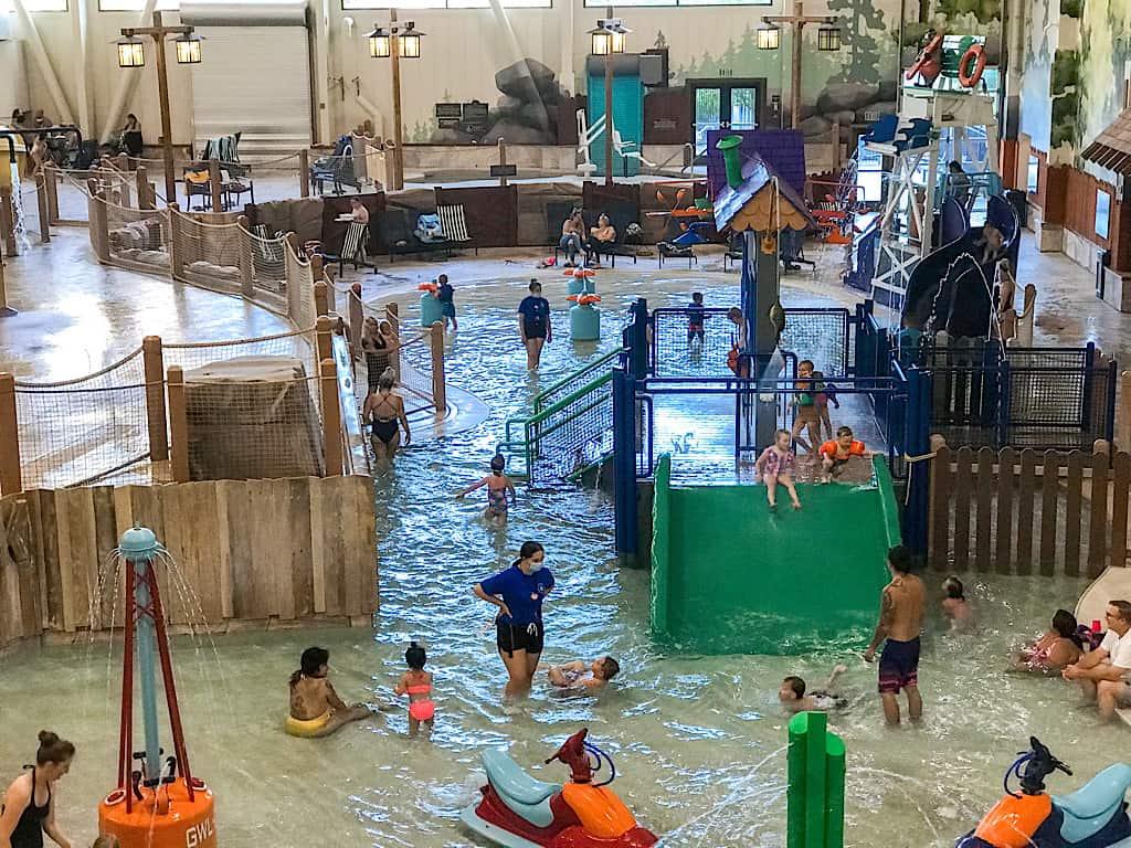 Kids water park area at Great Wolf Lodge Washington