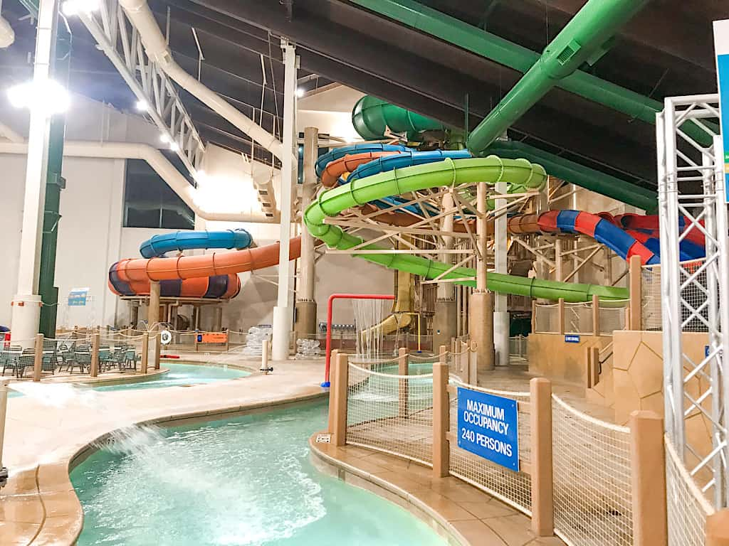 water slides and lazy river