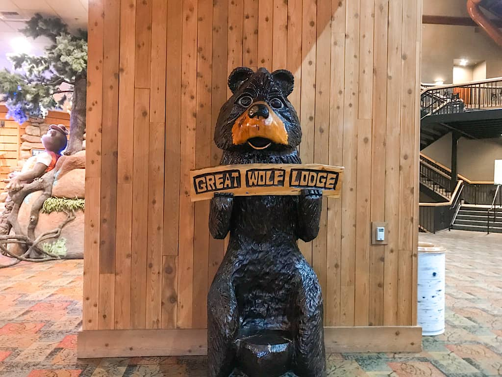 Bear Bench at Great Wolf Lodge