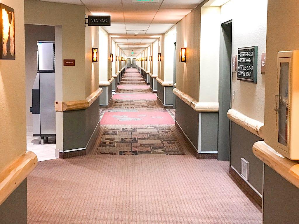 Hallway of Great Wolf Lodge Anaheim
