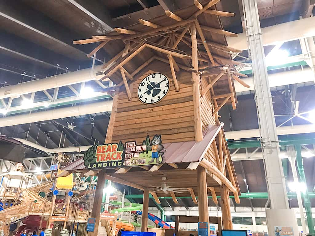 Clock Tower in the Great Wolf Lodge Water Park