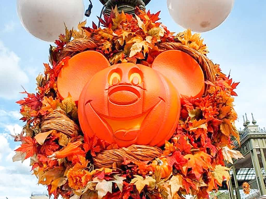 Mickey Mouse Pumpkin Wreath at Disney World