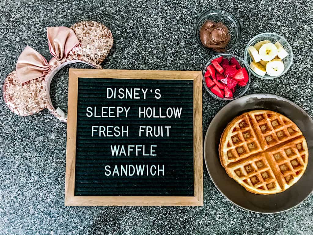 Disney's Sleepy Hollow Fresh Fruit Waffle Sandwich Ingredients
