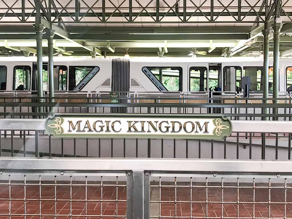 Monorail stop at Disney's Magic Kingdom