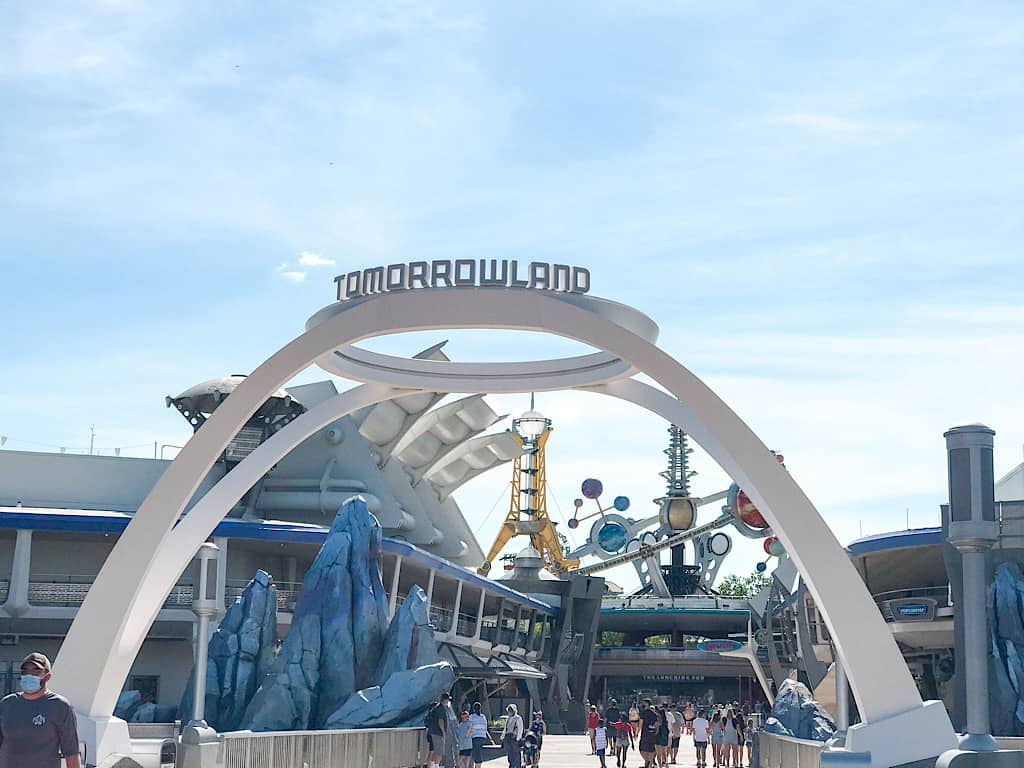 Tomorrowland Entrance at Magic Kingdom Park in Disney World