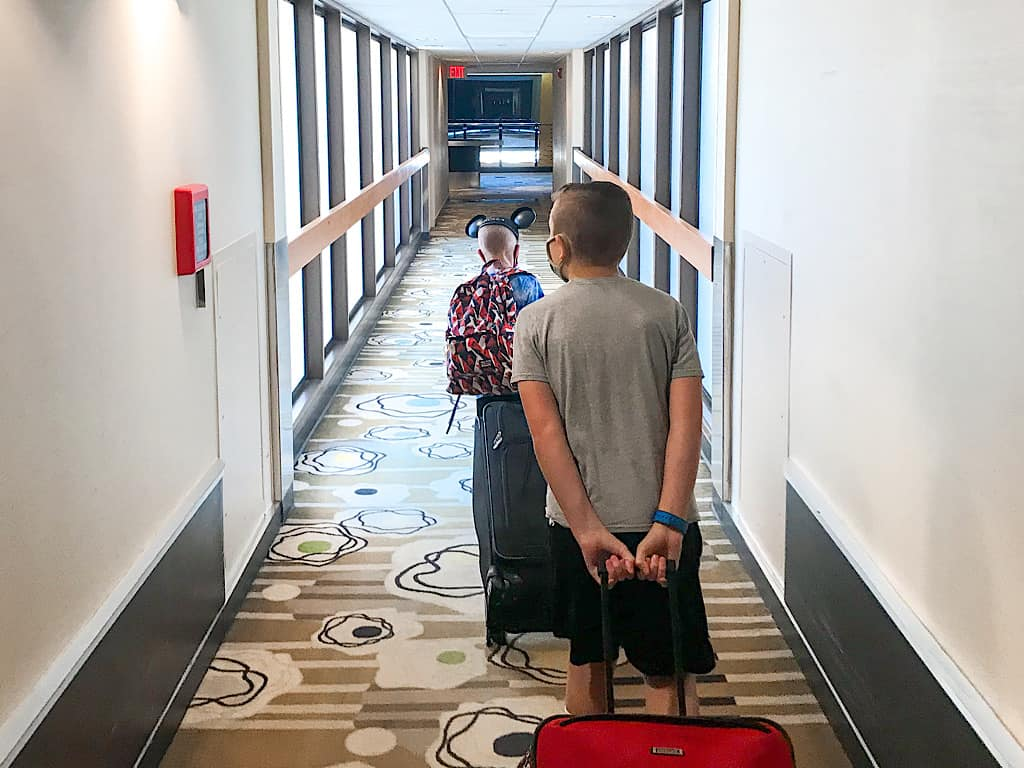Hallway of Disney's Contemporary Resort