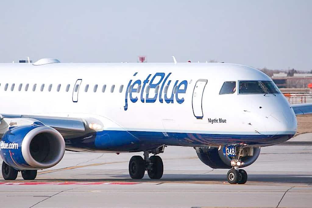 JetBlue airplane on a tarmack
