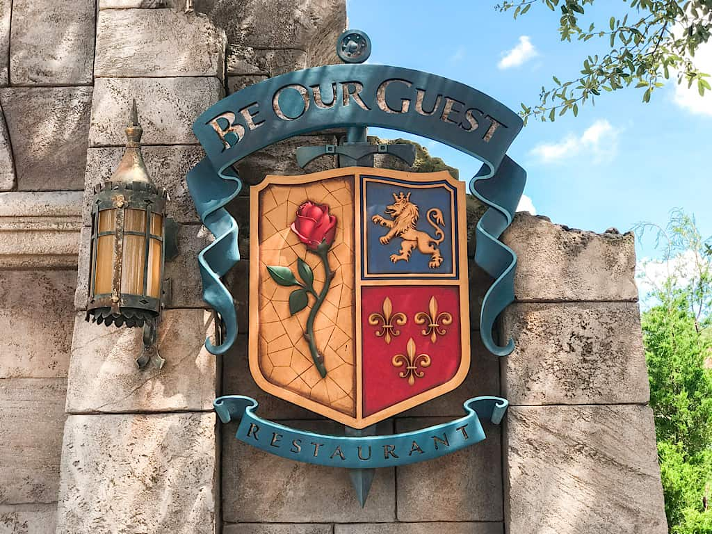 Entrance to Be Our Guest Restaurant at Disney World