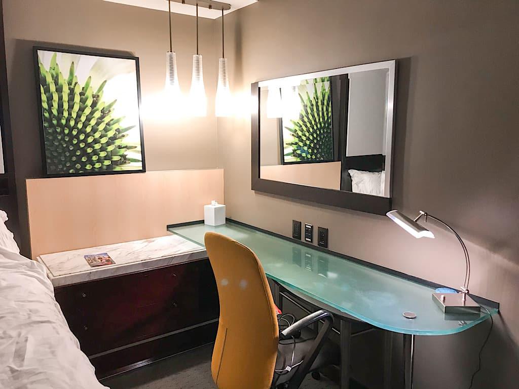 Corner Desk in Disney's Contemporary Resort Garden Tower Room