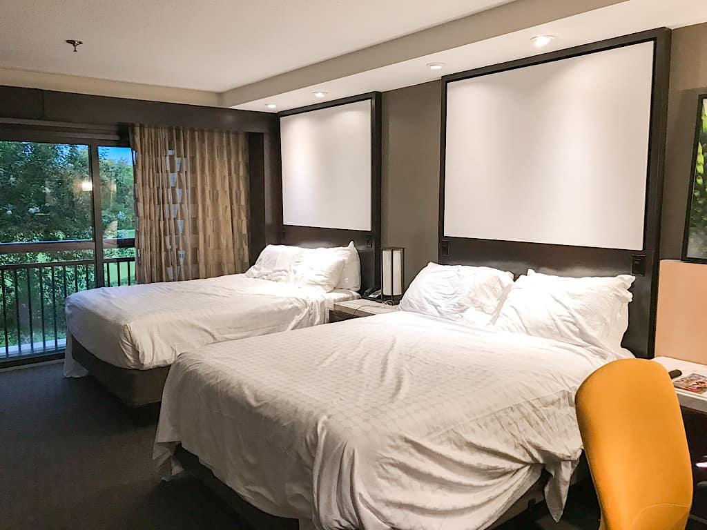 2 queen beds in Garden Tower Room at Disney's Contemporary Resort
