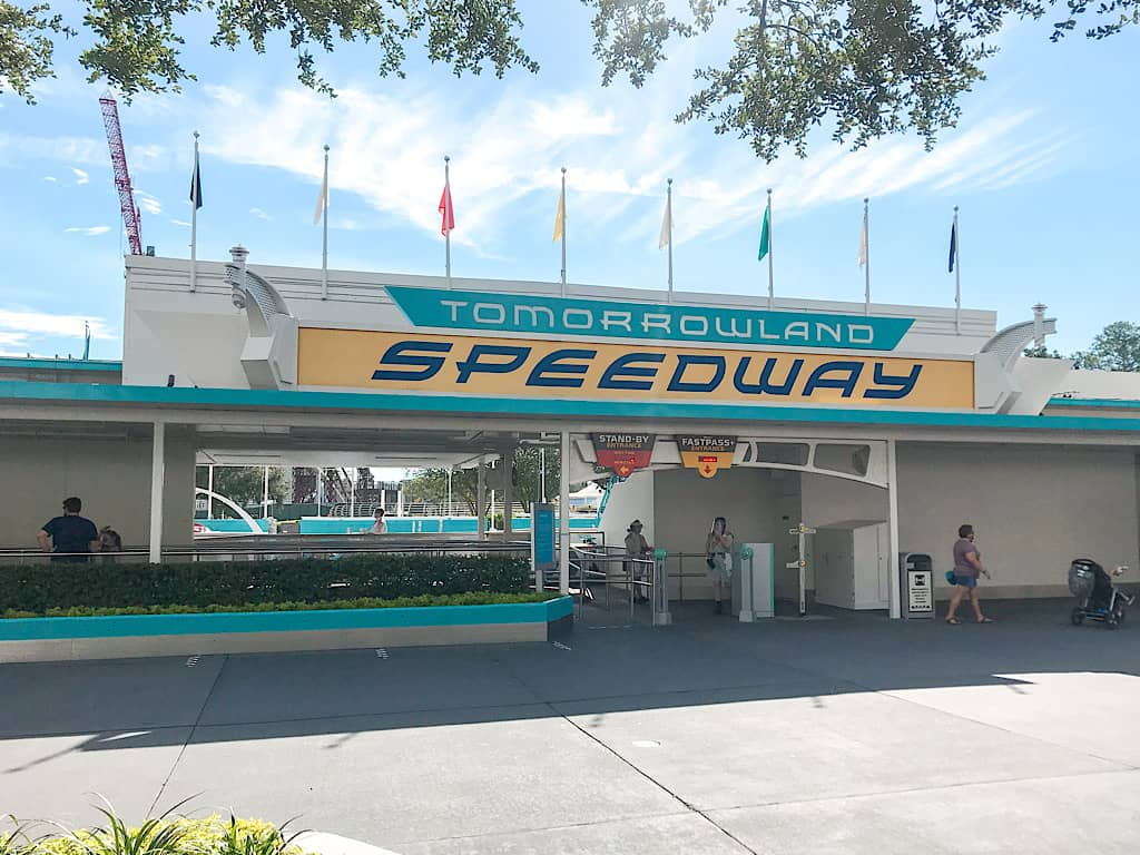 Tomorrowland Speedway at Disney World