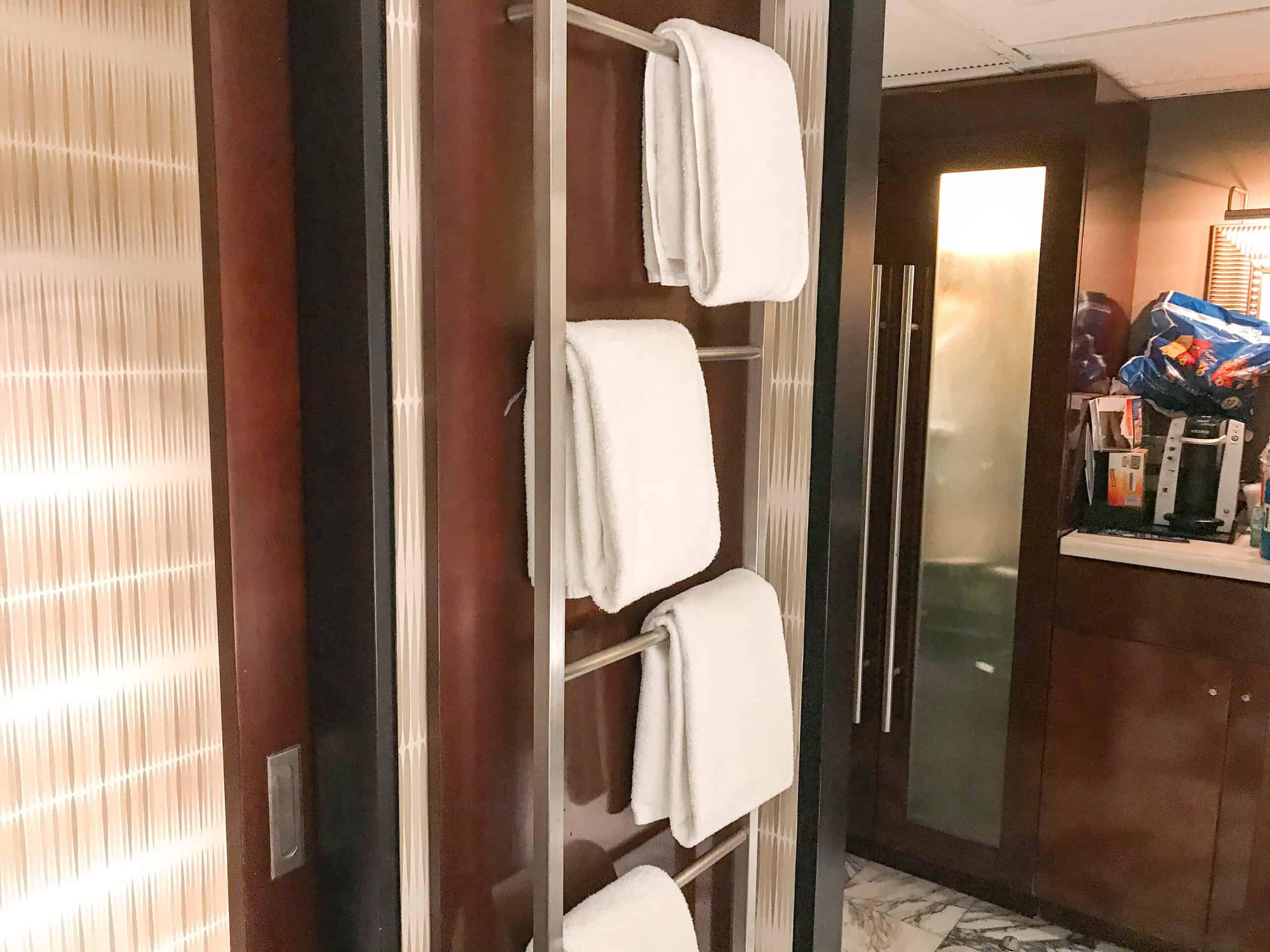Towel Rack in bathroom at Disney's Contemporary Resot