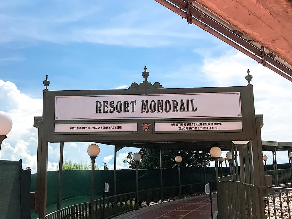 Monorail Resorts Sign at Disney World
