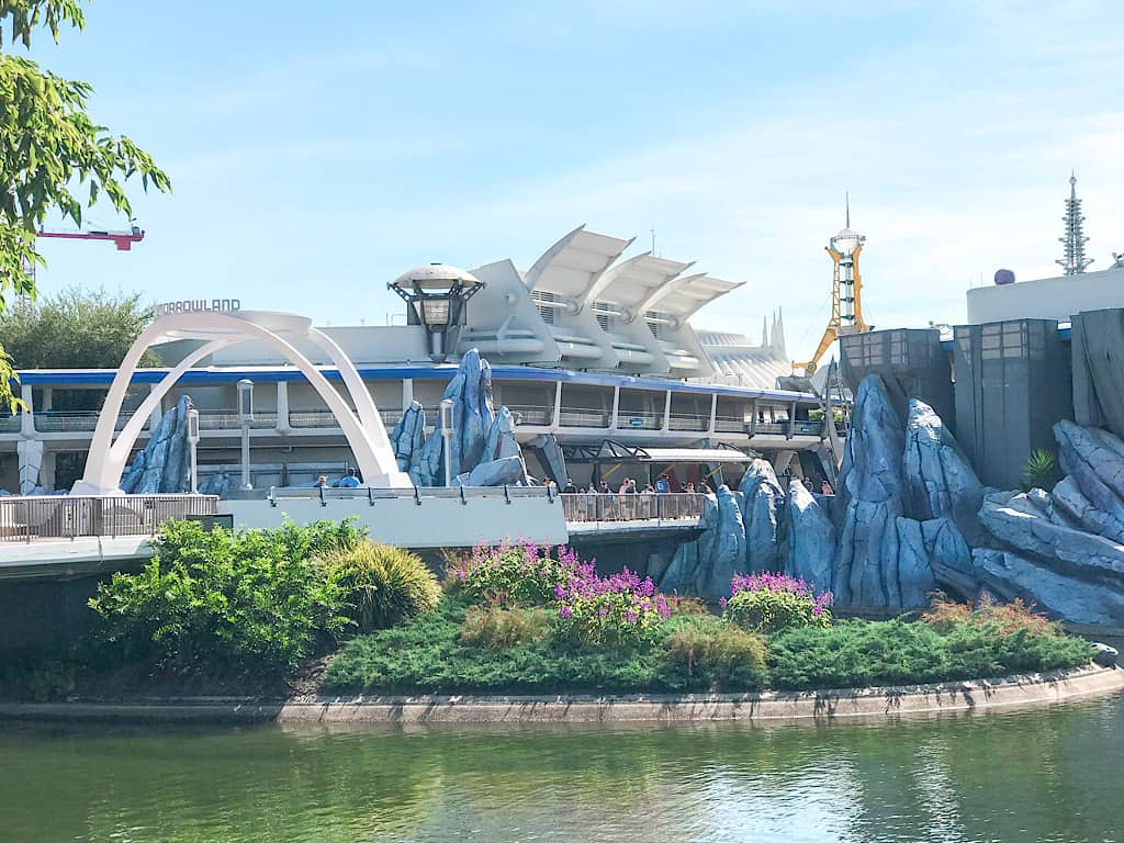 Side view of Magic Kingdom's Tomorrowland at Disney World