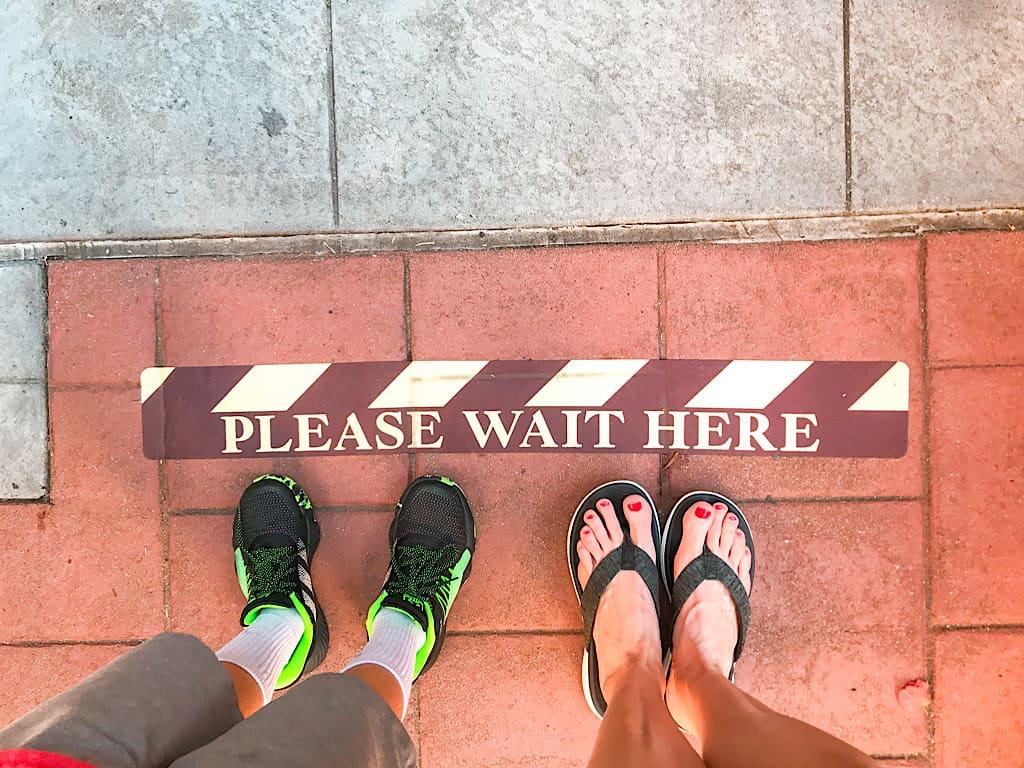 Social Distancing marker at Disney's Hollywood Studios