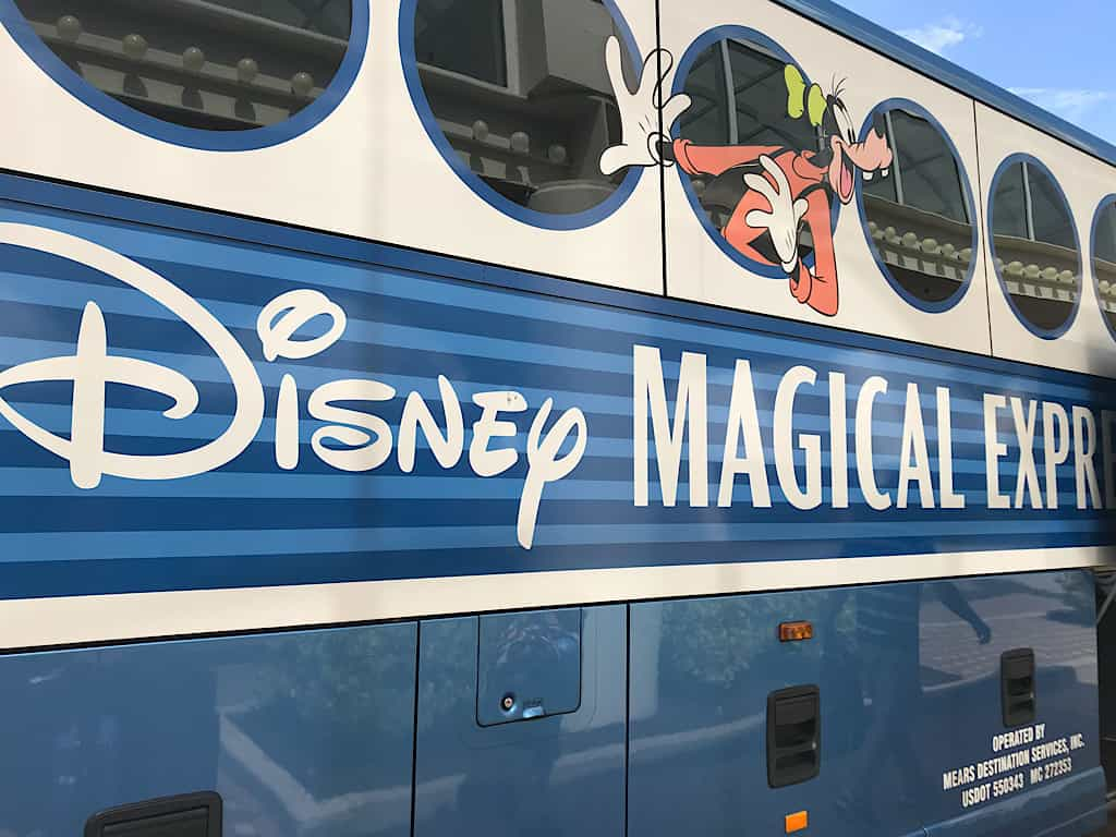 Close.up of Disney's Magical Express Bus