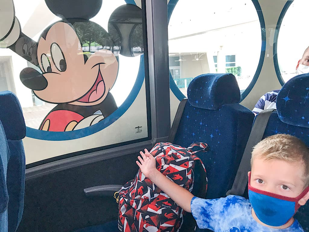 A child on Disney's Magical Express