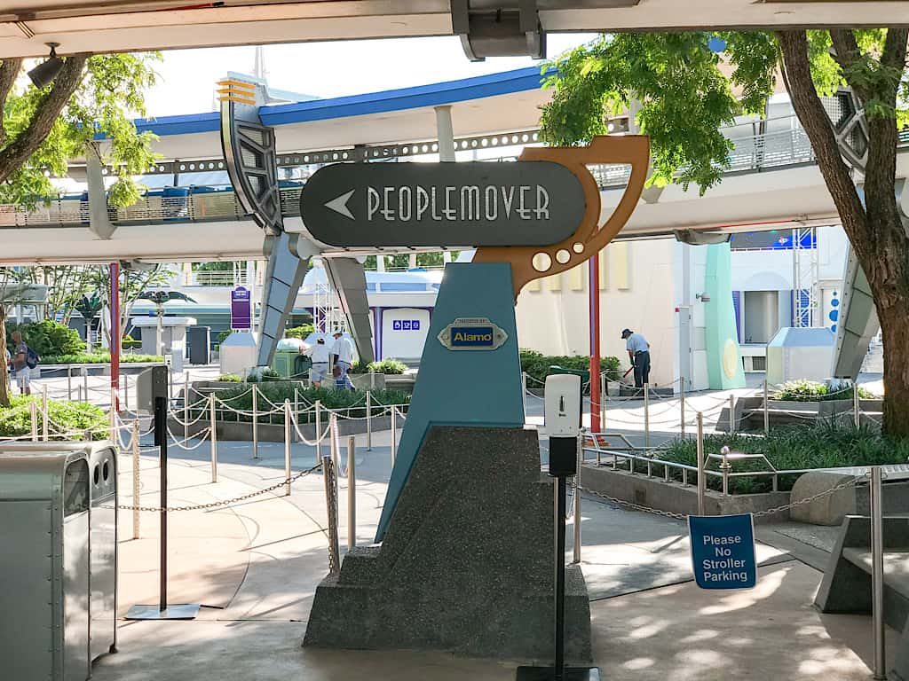 Entrance to Tomorrowland Transit Authority People Mover