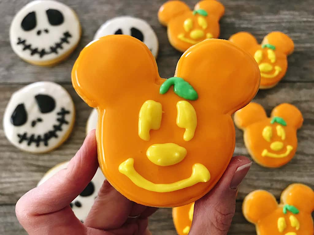 Mickey Pumpkin Cookie