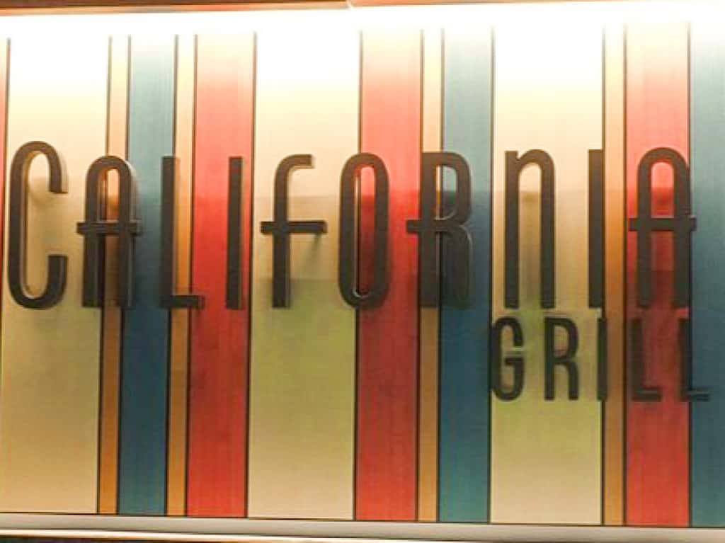 Sign for California Grill at Contemporary Resort