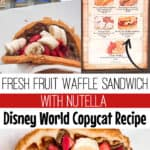 Fresh Fruit Waffle Sandwich with Nutella Disney World Copycat Recipe