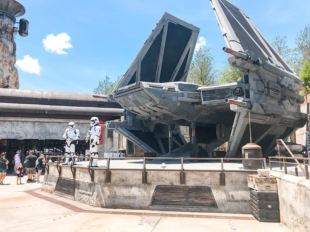 Storm Troopers in Star Wars: Galaxy's Edge at Disney World