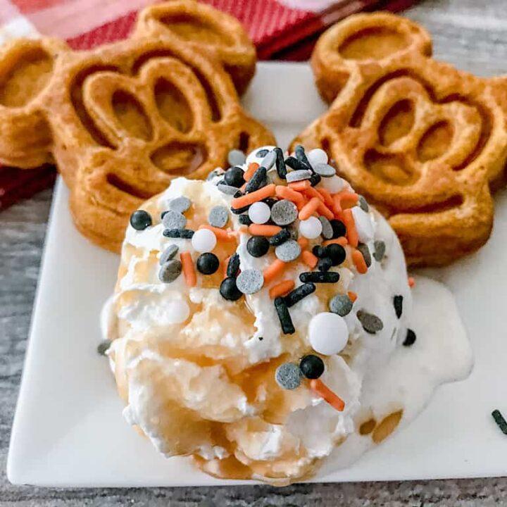Mickey Pumpkin Waffle Sundae