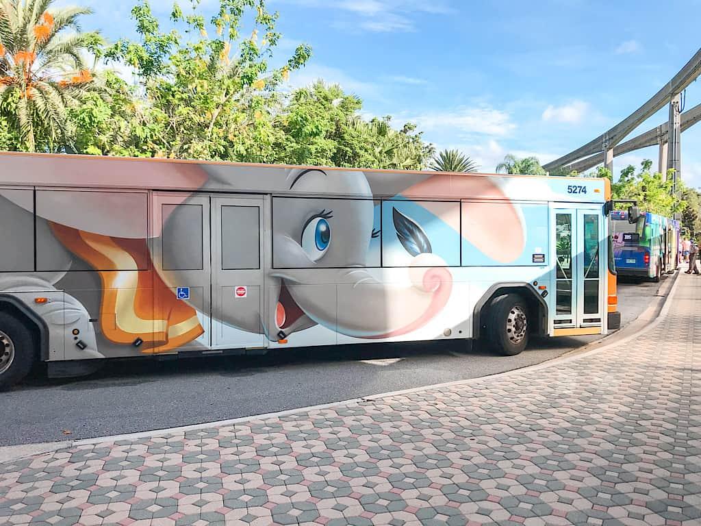 Disney World Transportation Bus themed for Dumbo