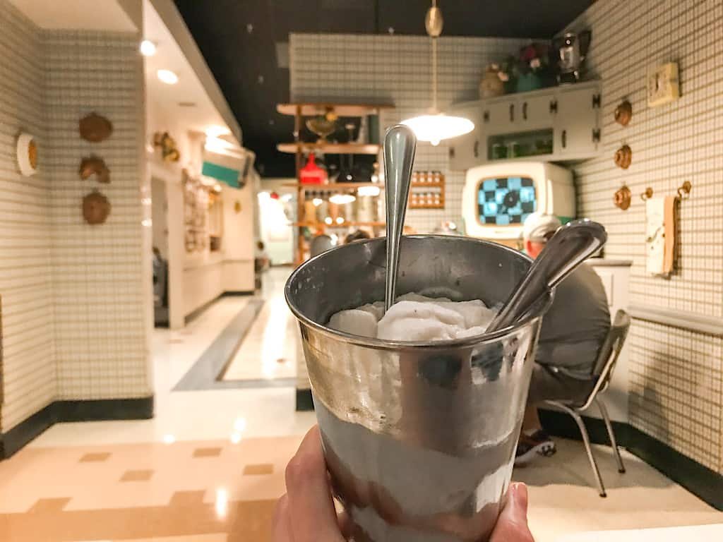 50's Prime Time Cafe Peanut Butter & Jelly Milkshake