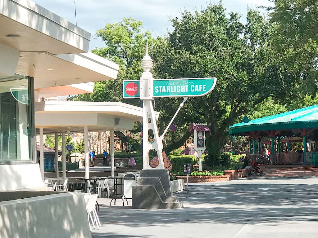 Cosmic Ray's Starlight Cafe is a quick service location where you can grab a burger and fries for lunch or dinner.