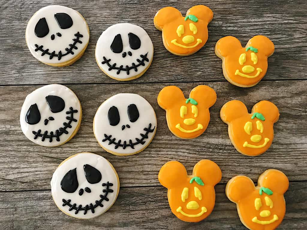 Jack Skellington and Mickey Pumpkin Spice Sugar Cookies